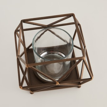 Geometric Candle Holder - 17x17x13.5 cms