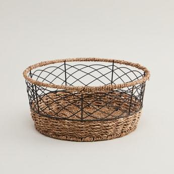 Round Decor Basket - 28x28x12.5 cms