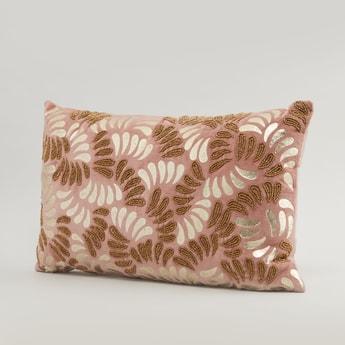 Sequin Detail Filled Cushion - 50x30 cms