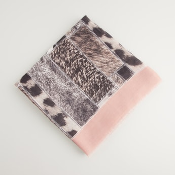 Animal Print Rectangular Scarf