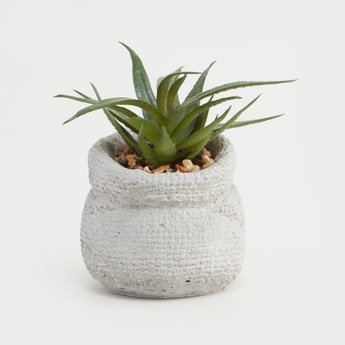 Artificial Plant with Textured Pot
