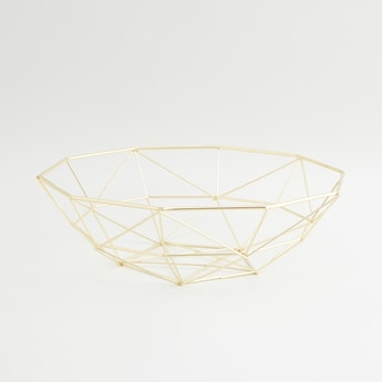 Metallic Decorative Basket