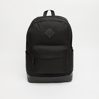 Solid Laptop Backpack with Adjustable Shoulder Straps