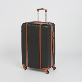Textured Suitcase with Retractable Handle - 44x64 cms