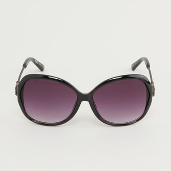 Full Rim Embellished Sunglasses with Temple Tips