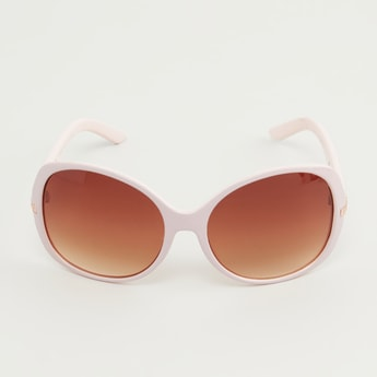 Full Rim Embellished Sunglasses with Wide Temples