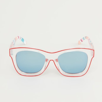 Full Rim Printed Sunglasses with Nose Pads