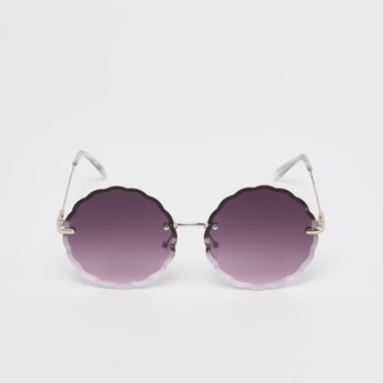 Scalloped Sunglasses with Nose Pads and Temple Tips