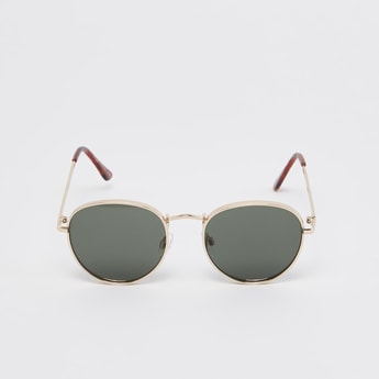Full Rim Aviator Sunglasses with Nose Pads and Temple Tips
