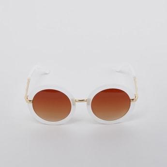 Full Rim Round Sunglasses with Nose Pads