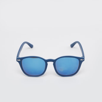Plain Full Rim Rectangle Sunglasses with Nose Pads