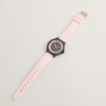 Wrist Watch with Round Dial