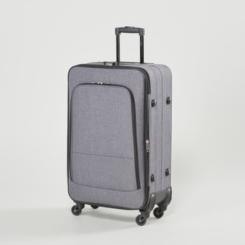 Textured Soft Case Luggage with Swivel Wheels - 42x25x69 cms