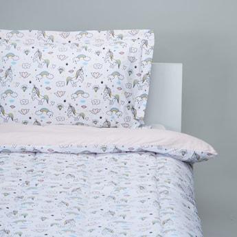 Unicorn Print 2-Piece Single Comforter Set