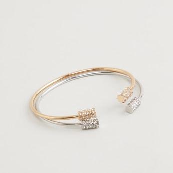 Set of 2 - Embellished Cuff Bracelet
