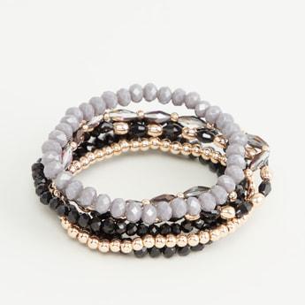 Set of 6 - Assorted Beaded Bracelet