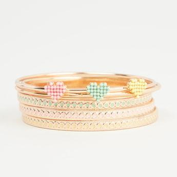 Set of 6 - Embellished Bangles