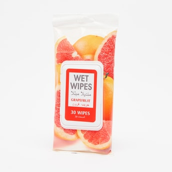 Wet Wipes Grapefruit - 30-Piece