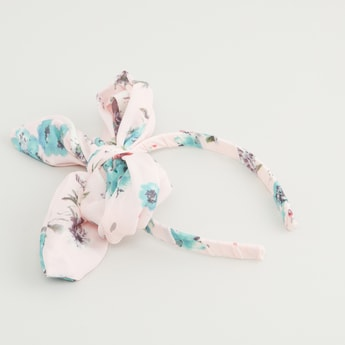 Floral Prints Hair Band with Knot Detail