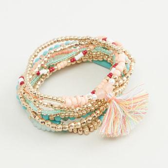 Set of 10 - Beaded Bracelets
