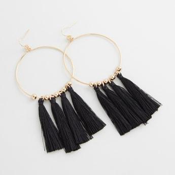 Hoop Earrings with Tassels