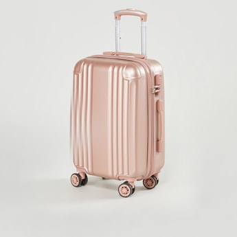 Textured Hard Case Luggage with Swivel Wheels - 36.5x23x55 cms