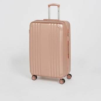 Solid Hard Cover Suitcase with Wheels - 49x29.5x76 cms
