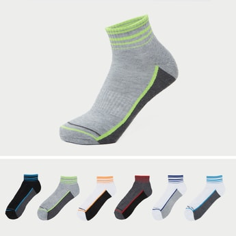 Set of 6 - Striped Ankle Socks