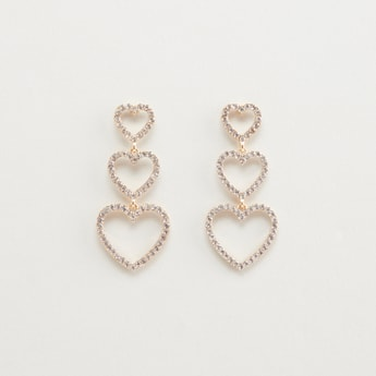 Stud Detail Earrings with Pushback Closure