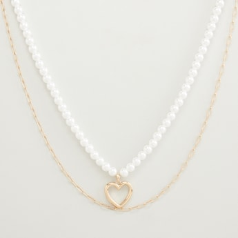 Pearl Detail Choker with Lobster Clasp