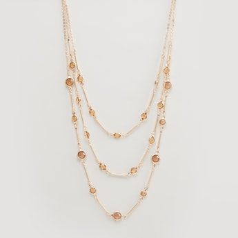 Embellished 3-Layer Necklace