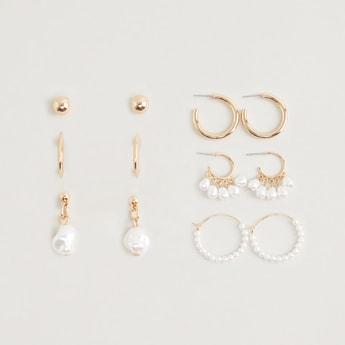 Set of 6 - Assorted Metallic Earrings
