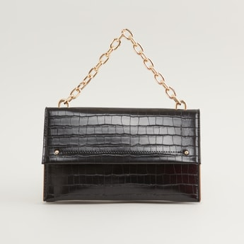 Textured Bag with Short Chain Strap