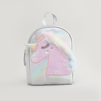 Sequinned Backpack with Adjustable Shoulder Straps