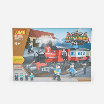 مجموعة مكعبات قطار المدينة 323 قطعة