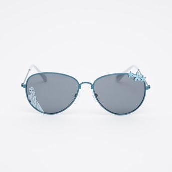 Full Rim Flower Applique Detail Aviator Sunglasses