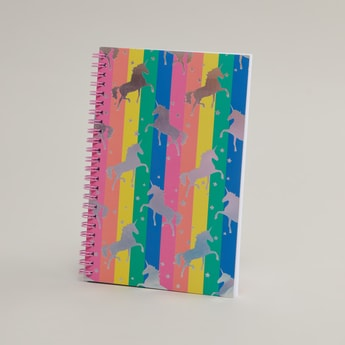 Printed Spiral Bound Single Ruled Notebook