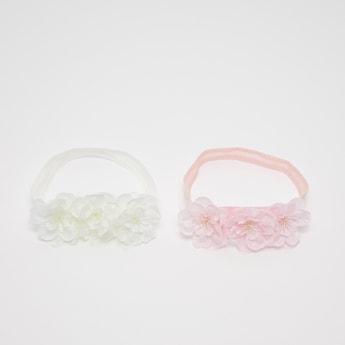 Set of 2 - Flower Applique Detail Headband