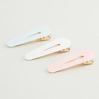 Set of 3 - Glitter Detail Hair Clips