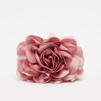 Flower Applique Detail Hair Clamp