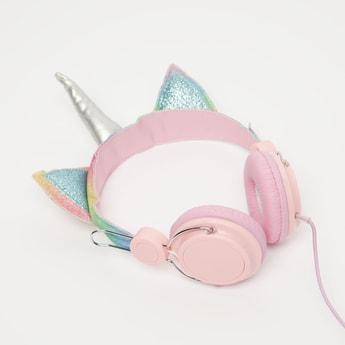 Unicorn Applique Detail Headphones with 3.5 mm Jack