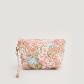 Floral Print Travel Pouch