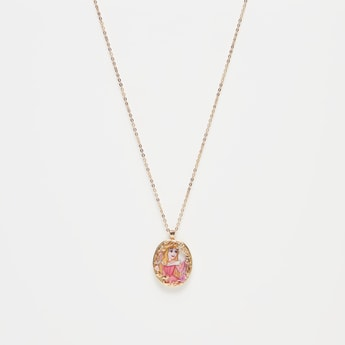 Aurora Print Pendant Necklace with Lobster Clasp