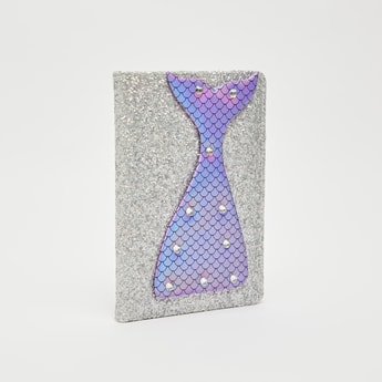 Applique Detail Single Ruled Notebook with Glitter Accent