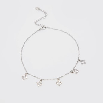 Chain Anklet with Embellished Charms