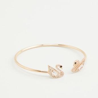 Swan Detail Studded Cuff Bracelet