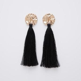 Tassel Detail Dangling Earrings with Pushback Closure