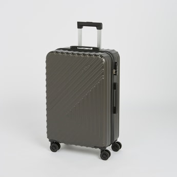 Textured Hard Case Luggage with Retractable Handle - 43x26x66 cms