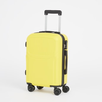 Solid Hard Case Trolley Bag with Retractable Handle and Caster Wheels