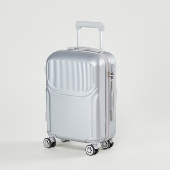Textured Hard Case Luggage with Retractable Handle - 39x22.5x56 cms